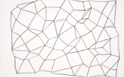 Future Steps Study #2, 2010. Graphite on paper, 20 x 28 inches.