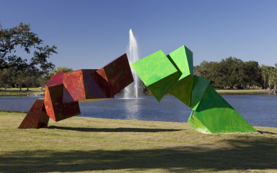 Grateful Labors, 2008. Aluminum with automotive paint, 10 x 25 x 9 feet. Collection of City Park New Orleans.