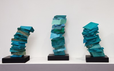 Consolation Series, 2012. Wood, paint; approximately 14 x 6 x 6 inches each.
