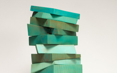 Consolation Series XII, 2014. Painted wood construction, 24 x 9 x 8 inches.