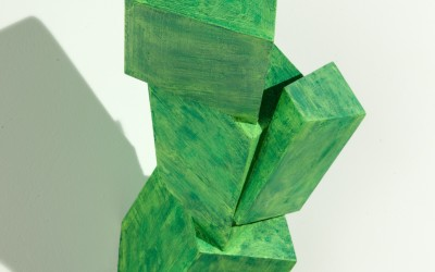 Abundant Kindness, 2012. Wood, paint; 18 x 11 x 10 inches.