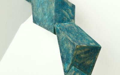 Scattered Shadows II, 2001. Wood, paint; 16 x 5 x 7 inches.