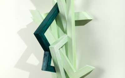 Unknown Innocence, 2012. Painted wood construction, 38 x 16 x 11 inches.