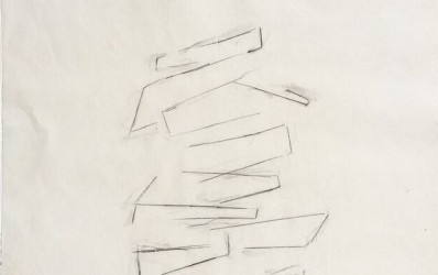 Consolation Study I, 2013. Graphite on mulberry paper, 24 x 18 inches.
