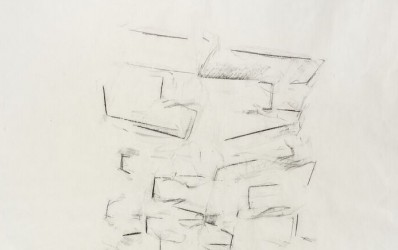 Consolation Study III, 2013. Graphite on mulberry paper, 24 x 18 inches.