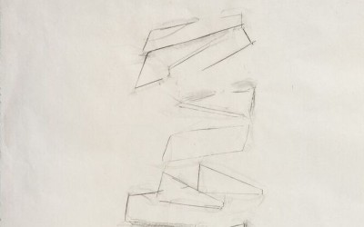 Consolation Study VI, 2013. Graphite on mulberry paper, 24 x 18 inches.