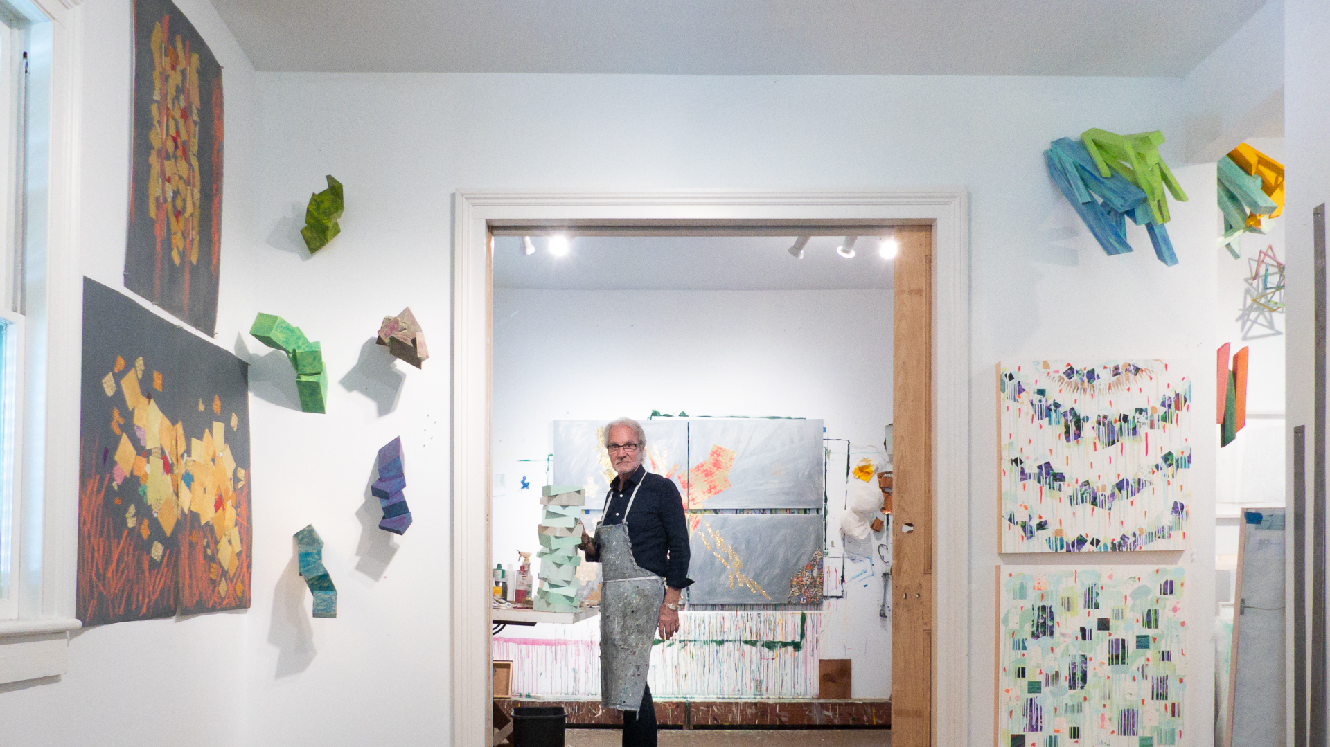 Wayne standing in his studio